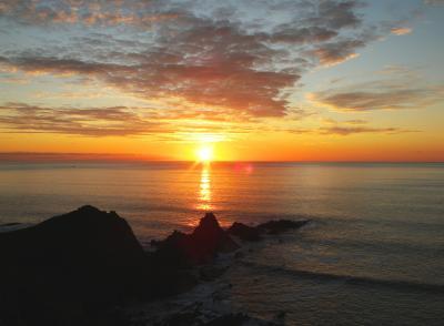 Sundown at Hartland Quay - copyright Bob Seymour