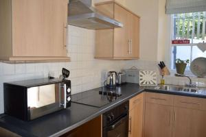The kitchen at Bay Tree Cottage, Hartland North Devon