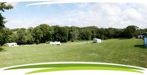 The caravan club site at Fosfelle Country Cottages, Hartland, North Devon