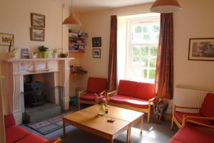 The lounge at Elmscott Youth Hostel, Hartland, North Devon -a YHA top 10 hostel