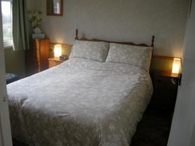 The main bedroom at Little Nod, self catering accommodation at Welcombe