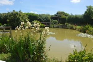 Onsite fishing at Hartland Caravan Holidays, in outstanding natural beauty