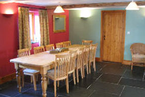 Dining, Speke's Valley Cottages, Hartland Peninsula