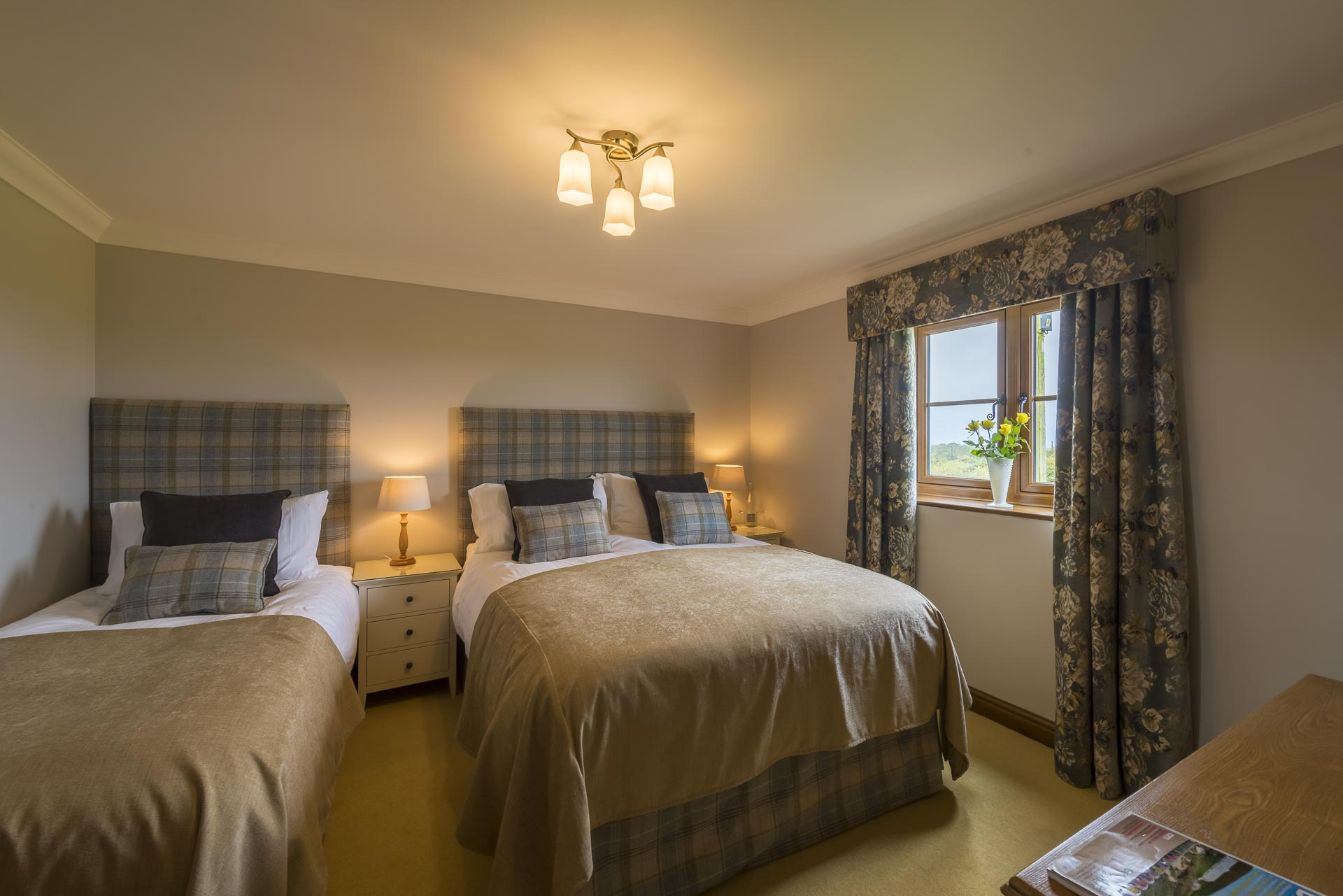 Twin room at Copps Castle Bed and Breakfast, Hartland, North Devon