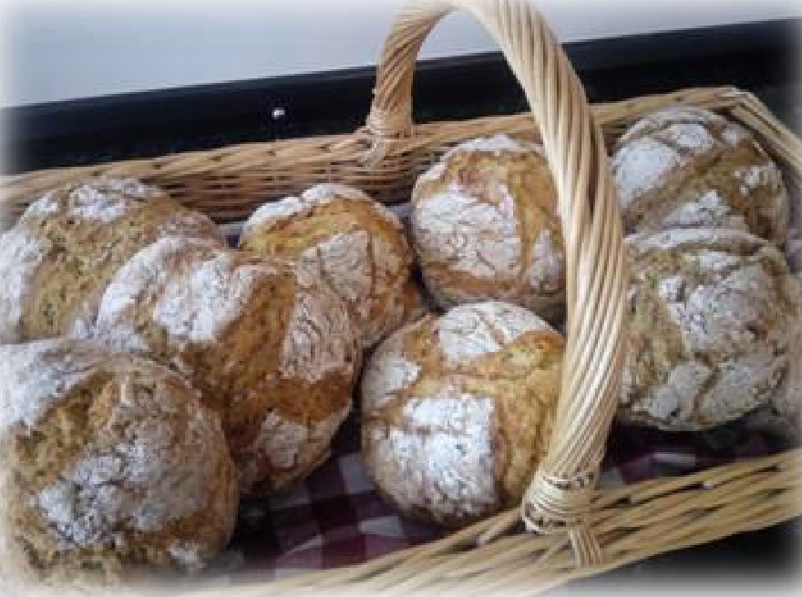 White, wholemeal or half and half soda bread and other speciality breads, truly Homemade in Hartland at Mrs B's Baking, 67 the Square, Hartland