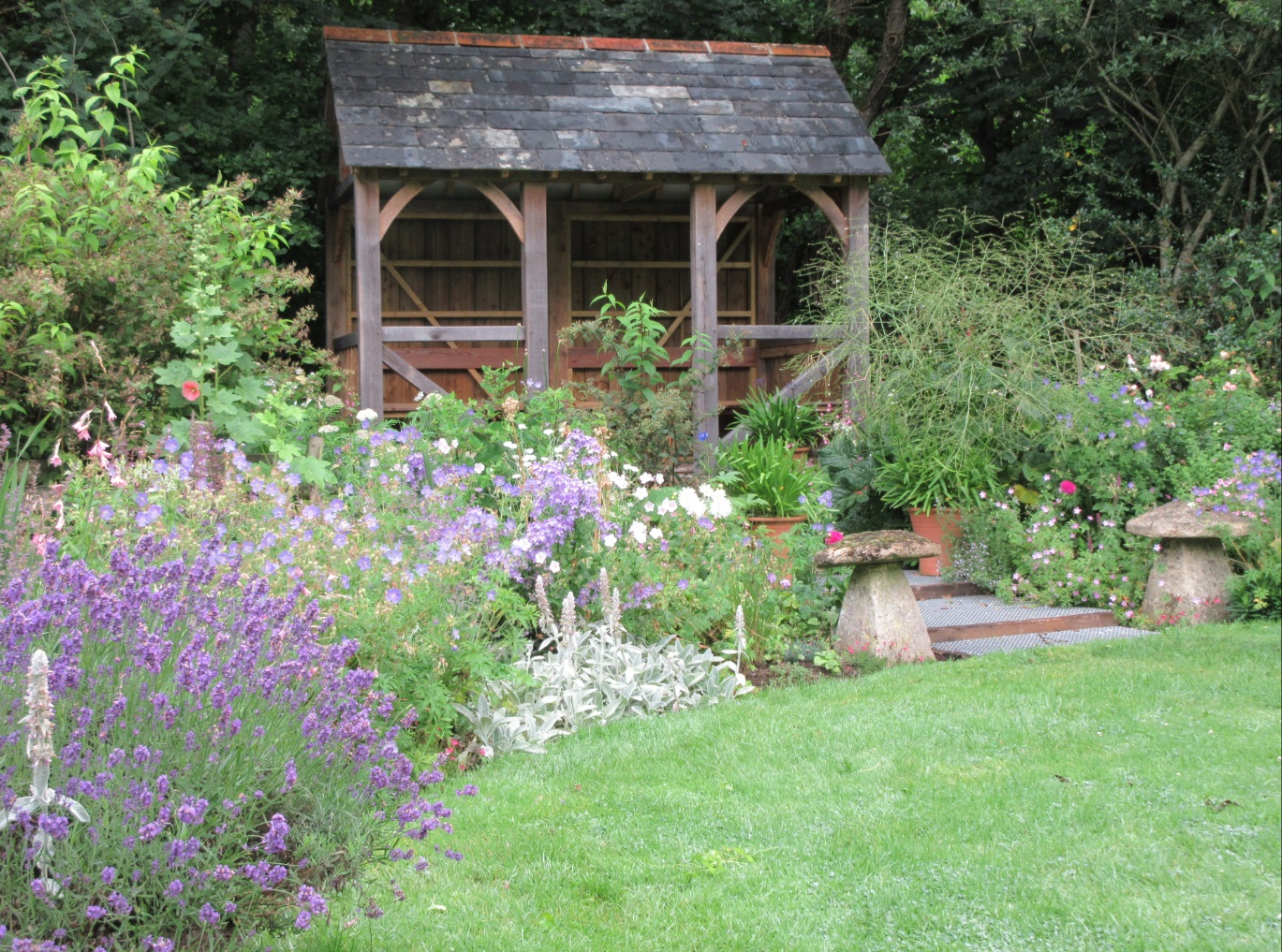 Summerhouse at Docton Mill Gardens and Tearoom, Hartland, North Devon