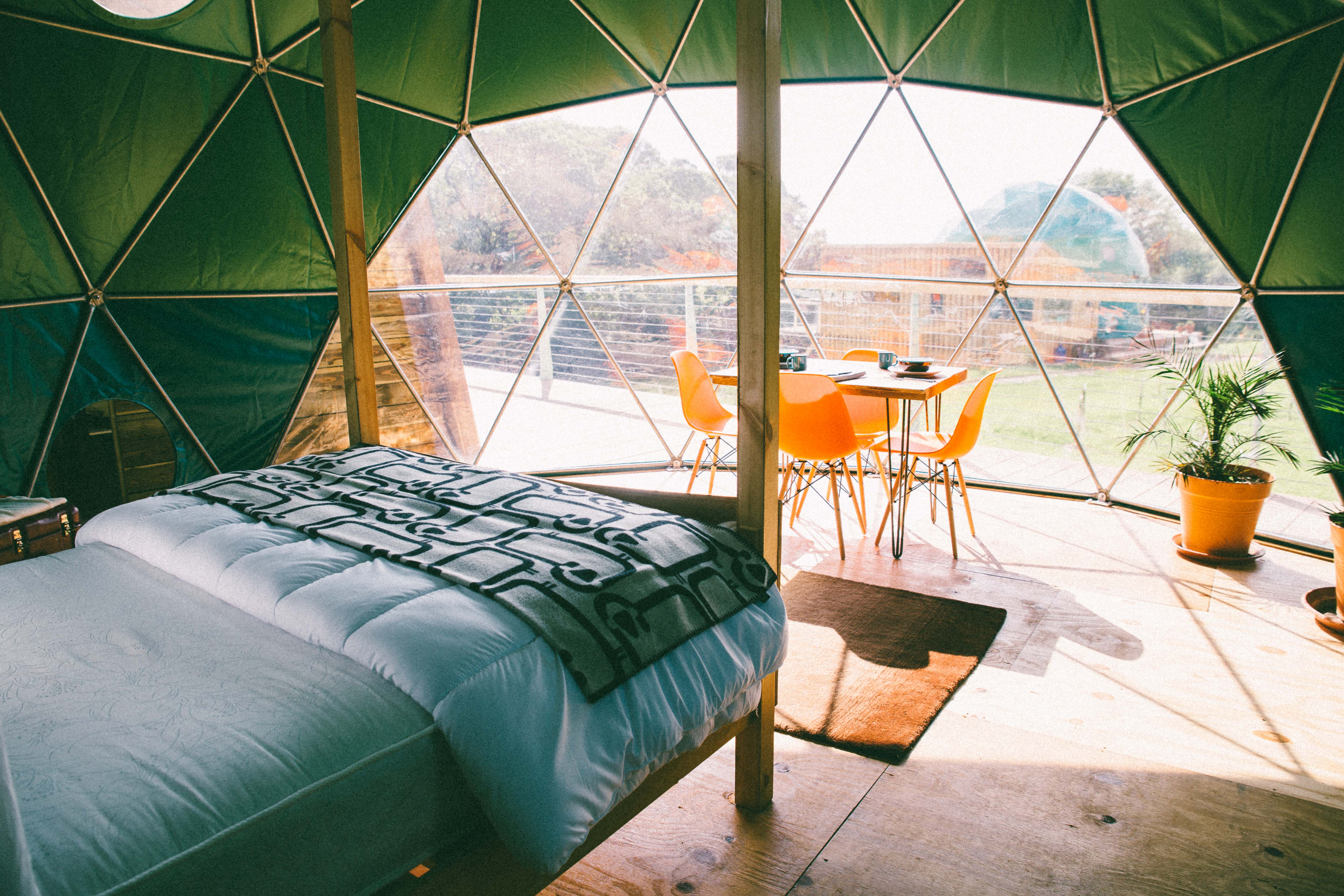 Loveland Farm Camping, eco pods and camping in glorious North Devon countryside at Hartland.