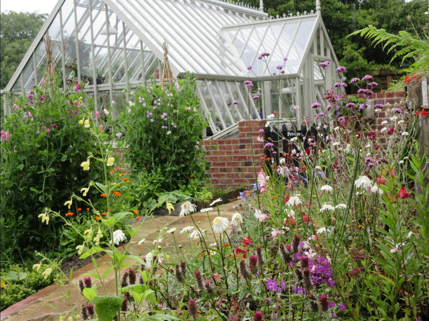 The glasshouse at Docton Mill Gardens and Tearoom, Hartland