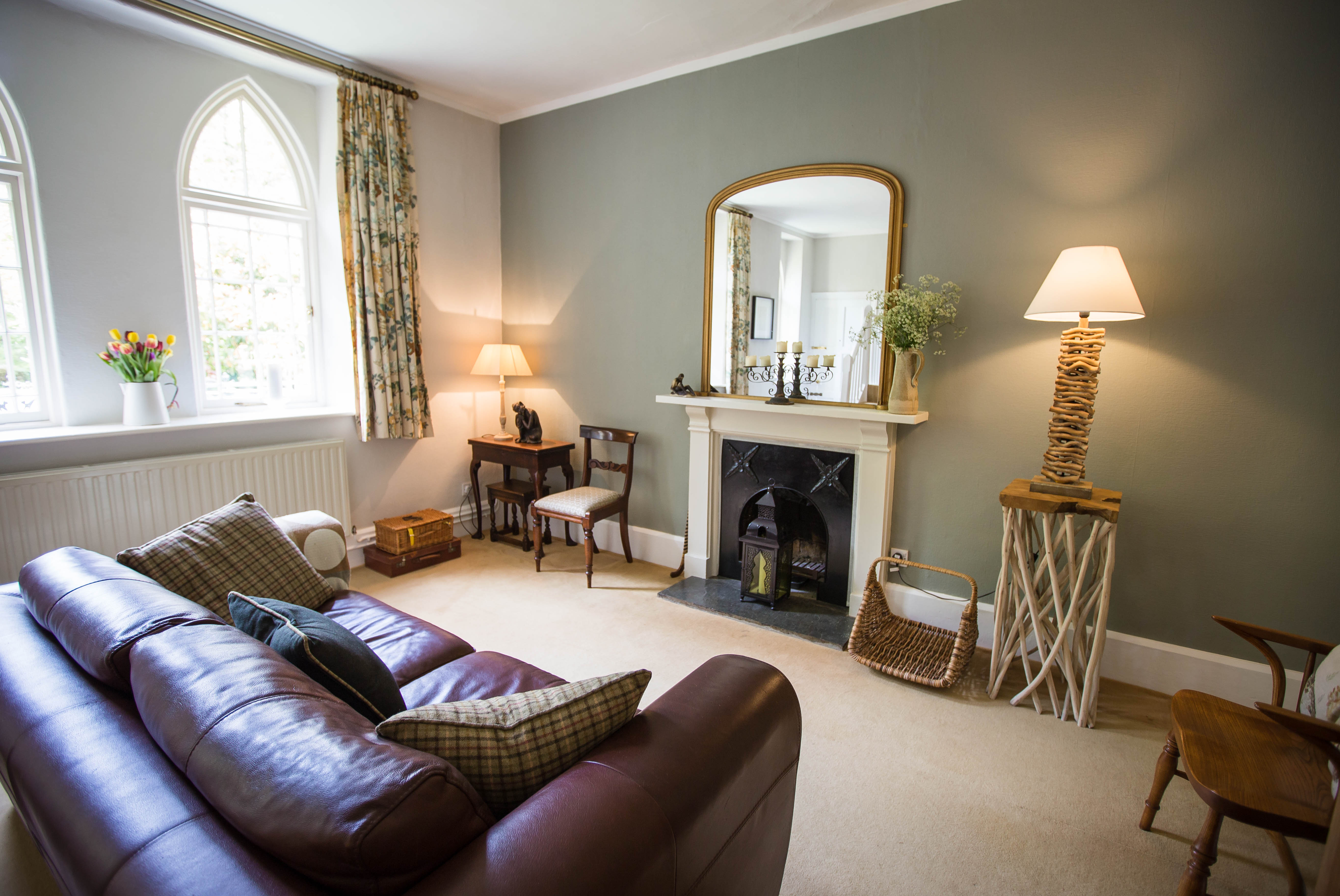 The lounge at Hartland Mill B&B, Hartland, North Devon