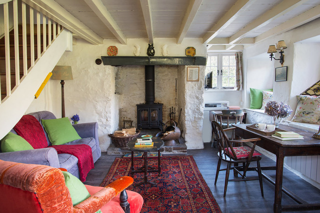 Philham Water Holiday Cottage Hartland North Devon - lounge with woodburner