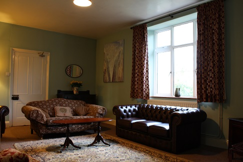 The lounge at Berry Park, lovely self catering Victorian apartments on the North Devon Coastline near Hartland and Welcombe