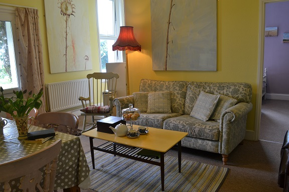 sitting area at Berry Park, Welcombe, lovely self catering, Victorian apartments, North Devon