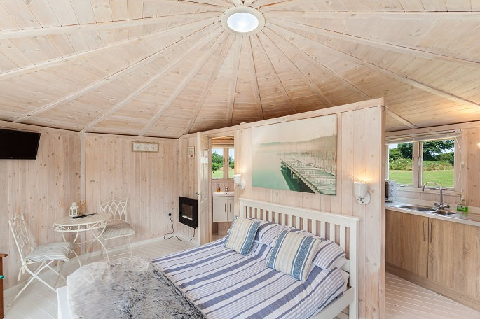 Inside of Cabin, Coastal, north devon, Glamping