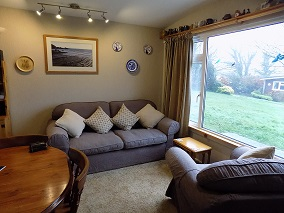 Seating area, garden, Little Nod, North Devon, Welcombe