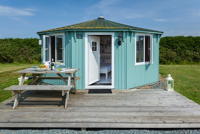 Outside Cabin, Coastal Cabins, Hartland