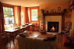 Little Barton, Living room, group self catering, North Devon, Hartland Peninsula