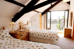 Cottage bedroom at Downe Cottages, Hartland, North Devon