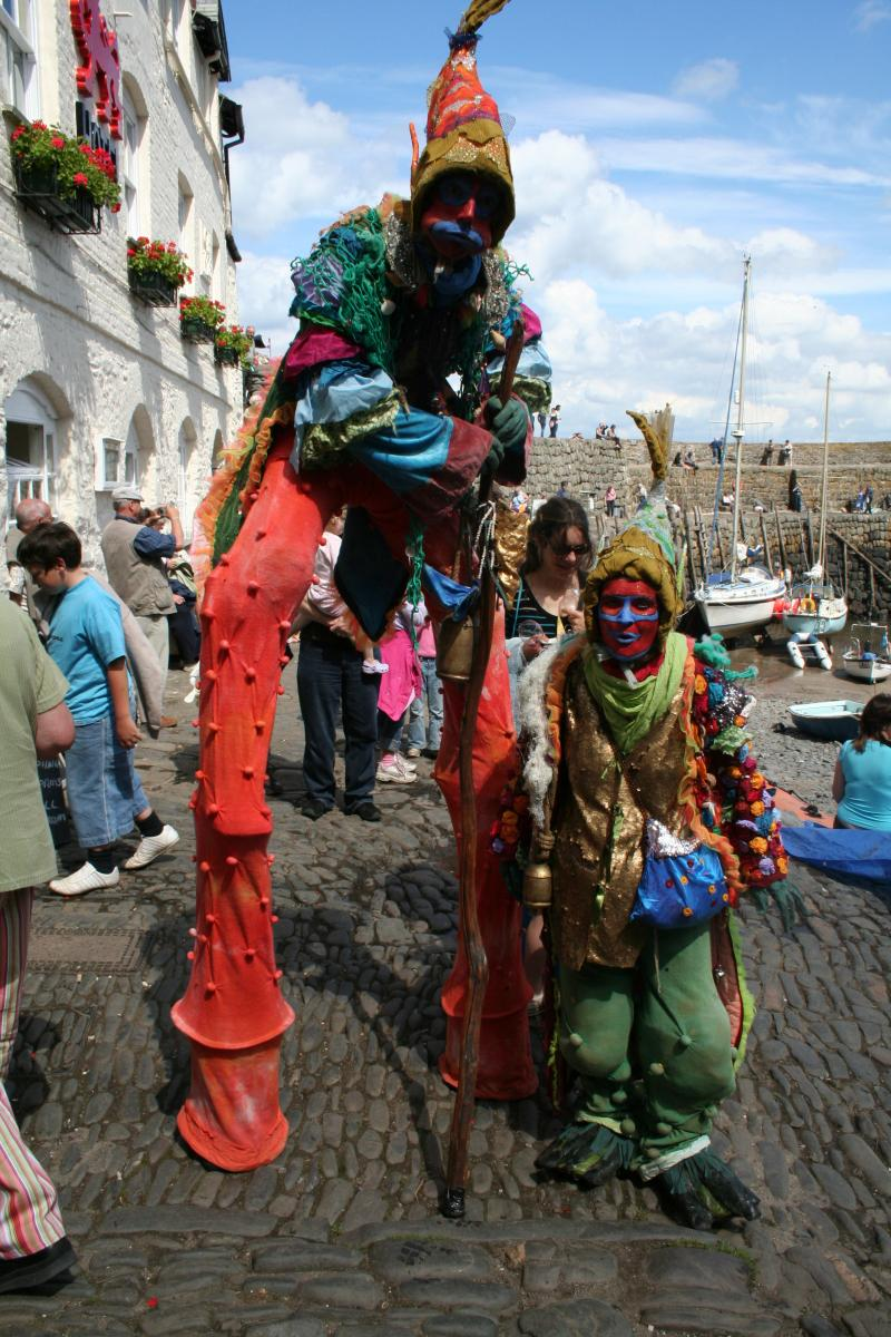 One of Clovelly's many vibrant festivals that take place throughout the year