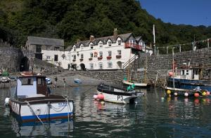 Clovelly, North Devon with its picturesque cobbled streets and ancient quay