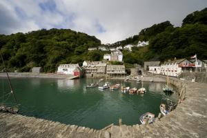 Clovelly's beautiful harbour