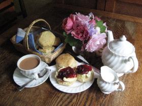 Award winning cream tea at Docton Mill Gardens & Tea Room, Hartland, North Devon