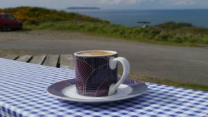 Espresso at Hartland Point refreshment kiosk