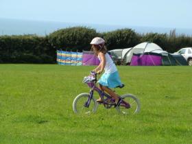 Families welcome at Stoke Barton Caravan & Camping site, Hartland