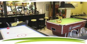 Games area at Fosfelle Bar & Restaurant, Hartland, North Devon