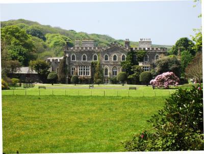Hartland Abbey, Hartland, North Devon. Historic house and grounds and a still li