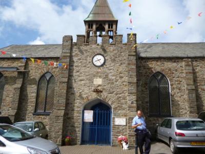 St John's, Hartland Square, North Devon housing the 17th C civic clock