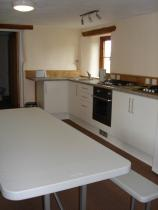 The kitchen diner at Hartland Camping Barn, Hartland, North Devon