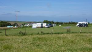 The campsite at Cheristow Lavender, Hartland, North Devon. Exceptional tea rooms
