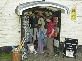 The Seafood Shop on the quayside at Clovelly, North Devon.