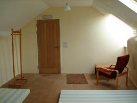 A sleeping room at the Hartland Camping Barn, Hartland, North Devon