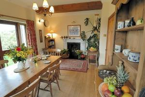 The dining room at Speke's House, special self-catering breaks in Hartland