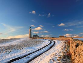 A winter view on Lundy Island, North Devon