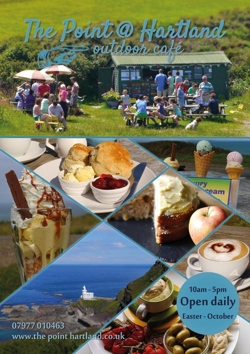 The Point Seasonal Cafe at Hartland Point, North Devon open Easter - October 10am - 5pm for fantastic food and takeaway