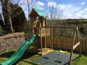 The children's play area at the family friendly Kings Arms, Hartland,