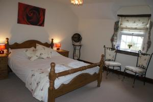 The double room at Great Philham House B&B, Hartland, North Devon