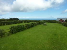 The garden and view from the Byre, self-catering breaks in North Devon