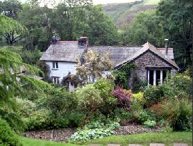 The house and tea room at Docton Mill Gardens & Tea Room, Hartland, North Devon