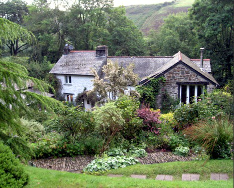 The house and tea room at Docton Mill Gardens, Hartland, North Devon