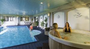 The indoor pool and jacuzzi at Hartland House Spa, North Devon