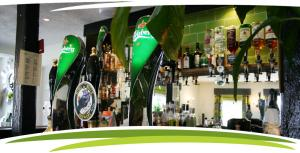 The well stocked bar at Fosfelle Country House & Cottages, Hartland, North Devon