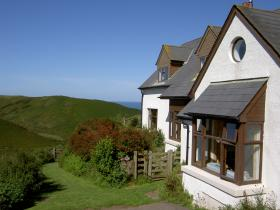 Front of Speke's House, wonderful self-catering breaks on the North Devon coast