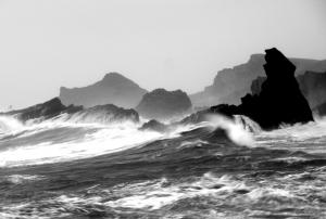 Wind and waves, copyright by Rob Seymour Photography, Hartland, North Devon.