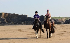 Horse riding on the beach with Welcombe Equine, Hartland, North Devon