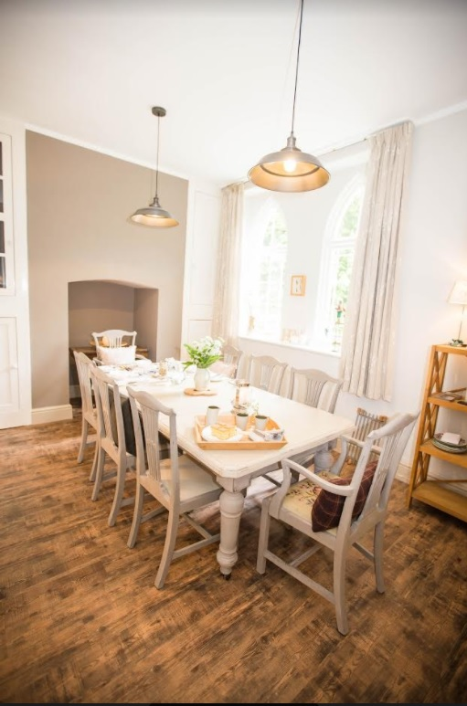 The dining room at Hartland Mill B&B, Hartland North Devon