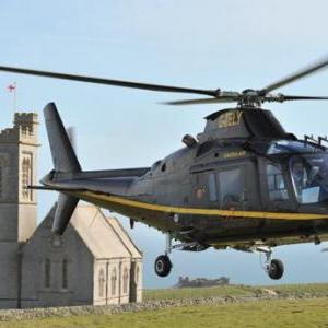 Helicopter rides to Lundy Island.