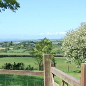 The view at Peace and Plenty Cottage, Hartland, North Devon